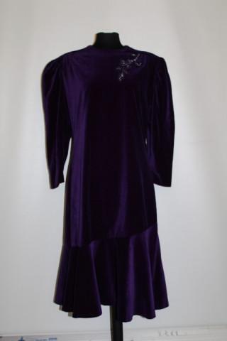 Rochie de ocazie din catifea violet anii '70 - '80