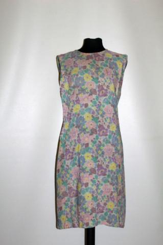 Rochie print floral pastel anii 60