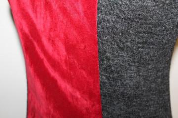 Bluza aplicatii din catifea anii '90