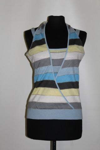 Bluză din tricot cu dungi anii 90