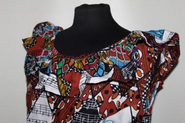 Bluză print afro anii 90