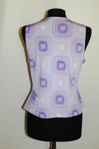 Bluza vintage violet print geometric repro anii '70