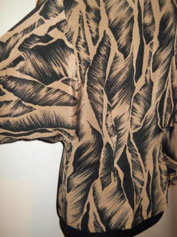 Camasa retro print vegetal anii '80