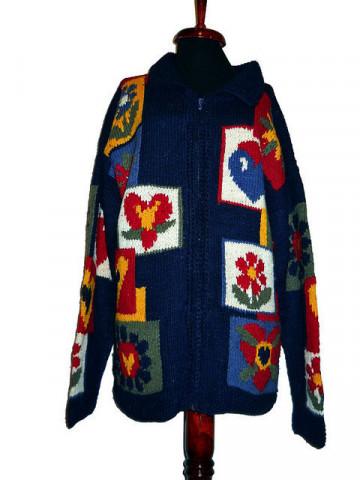 Cardigan vintage stil naiv anii '70