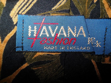 "Cravata vintage ""Havana Fashion"" anii '70 - '80"