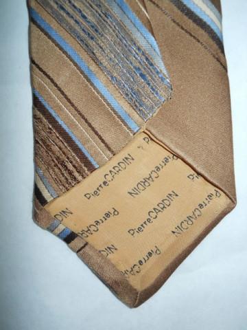"Cravata vintage  maro deschis dungi ""Pierre Cardin"" anii '60"