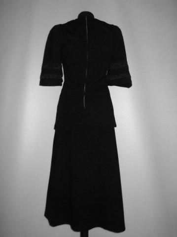 Deux pieces vintage negru anii '60