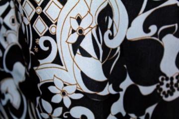 Deux pieces vintage print floral bicolor anii '60
