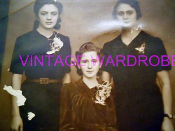 Fotografie vintage de grup, trei femei, anii '30