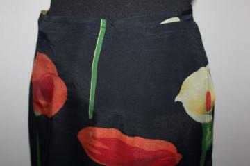 Fusta - pareo flori portocalii anii '80