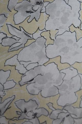 Fusta print floral stilizat gri anii '80