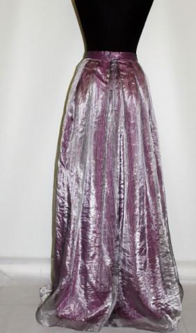 Fusta vintage de ocazie din organza violet anii '70