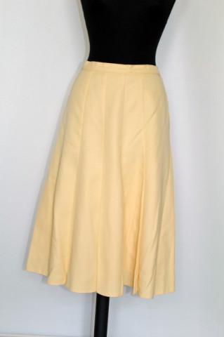 Fusta vintage plisata galbena anii '70