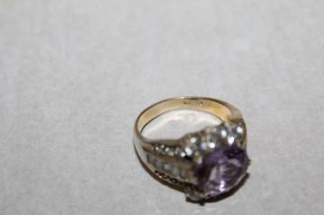 Inel din argint cu ametist anii '50