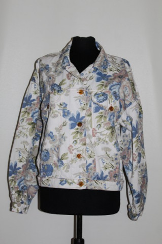 Jacheta din jeans print floral anii '90