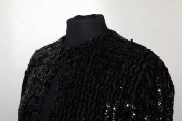 """Jacheta paiete negre """"Lucie Linden"""" anii '80"""