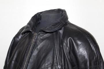 Jachetă patchwork piele naturală anii 80