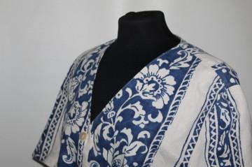 Jacheta print contrast anii '80