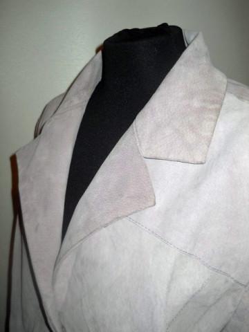 Jacheta retro piele intoarsa lila anii '90