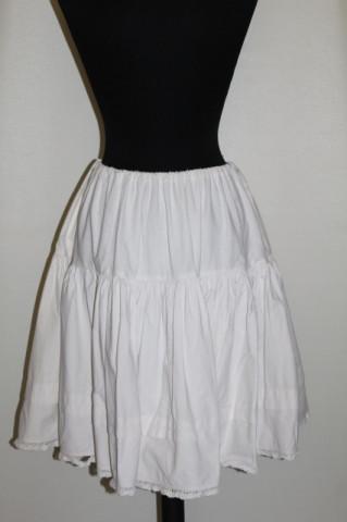 Jupon vintage pliseu cusut si dantela anii '50