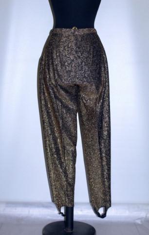 Pantaloni retro aurii anii 80
