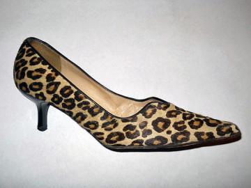 Pantofi din blana de ponei animal print repro anii '50