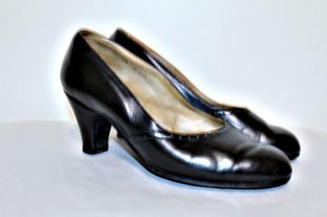 """Pantofi negri """"Filt"""" anii '40"""