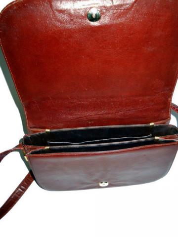 Poseta vintage din piele maro de sarpe anii '70