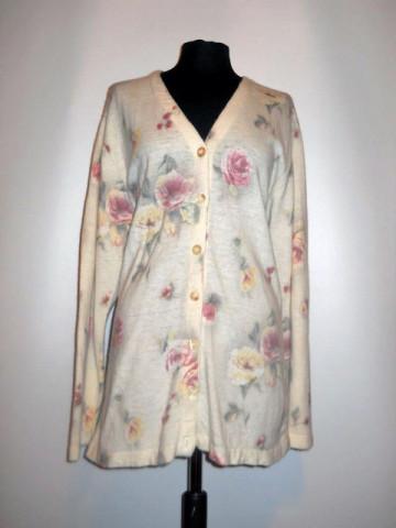 Pulover retro trandafiri anii '80