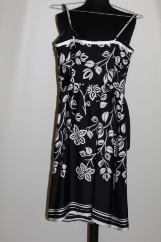 Rochie alb cu negru Esprit
