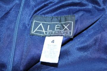 Rochie de seara vintage bleumarin cu lame anii '70