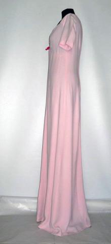 Rochie de seara vintage din crepe roz anii '60