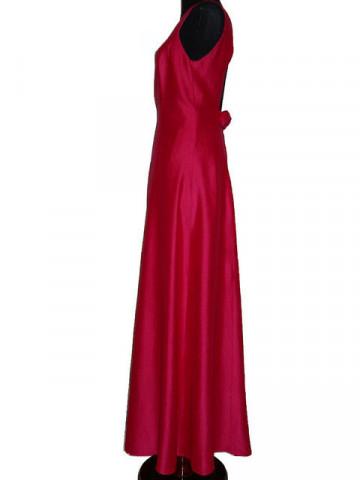 Rochie de seara vintage din santung roz persan anii '60
