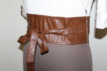 Rochie din jerse si piele artificiala repro anii '60