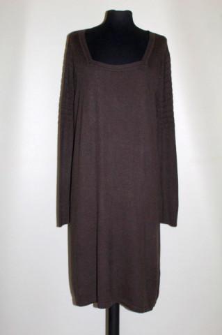 Rochie din tricot maro închis repro anii 60