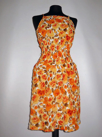 Rochie portocalie repro anii '60