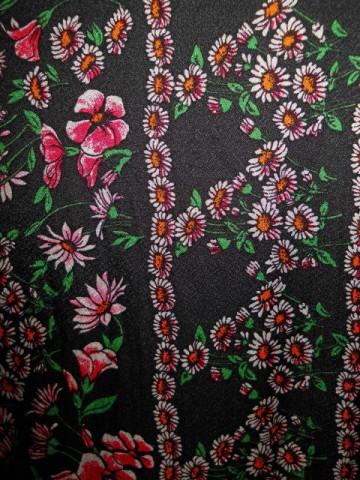 Rochie print floral roz anii '60