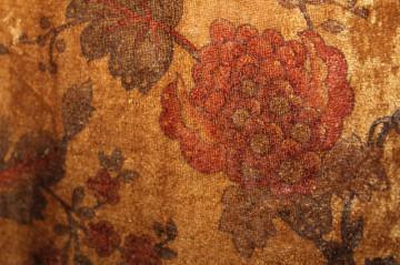 Rochie retro catifea print floral anii '90