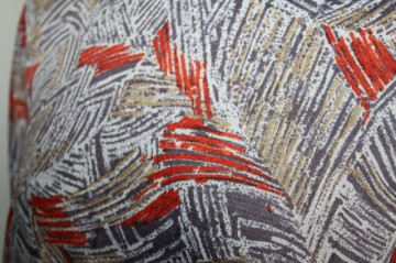 Rochie retro print abstract caramiziu anii '80
