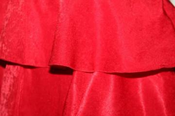 Rochie rosie volanase repro anii '60