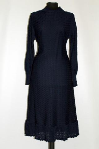 Rochie vintage dantela bleumarin anii '50