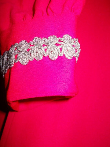 Rochie vintage de ocazie shocking pink anii '60