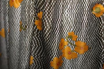 Rochie vintage flori portocalii anii '50