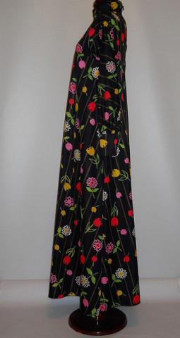 Rochie vintage  lalele multicolore anii '60