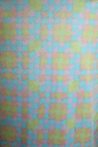 Rochie vintage print grafic pastel anii '60