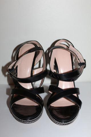 Sandale negre Primadonna repro anii 70