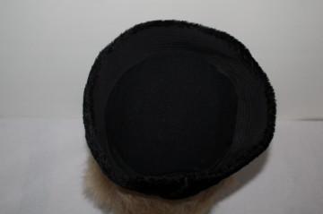 Toca blana artificiala neagra anii '40