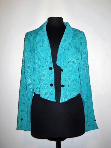 Jacheta din damasc verde anii '70