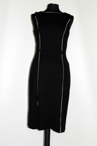 Rochie alb cu negru repro anii '60