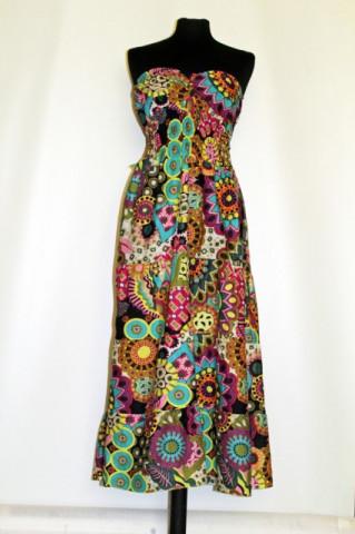 Rochie print floral multicolor repro anii '70